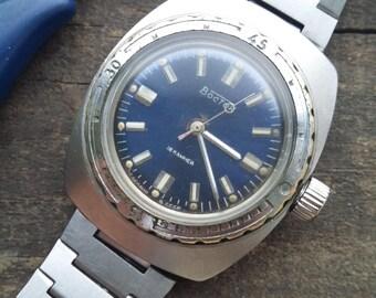 """Soviet watch ,Russian watch ,Diving Watch, Vintage watch, NOS watch """"Komandirskie"""" """"Amphibia"""" """"Vostok"""""""