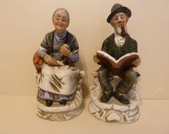 Elder Couple, Figurines, unmarked