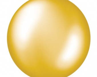 XL 36IN GOLD balloon ONLY no confetti good for any party birthday parties or photography