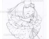 Pierrot doll - digital file