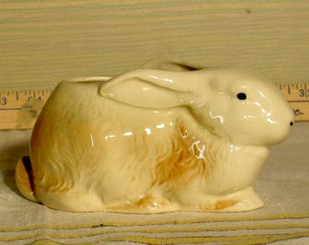 vintage bunny rabbit planter. easter bunny planter