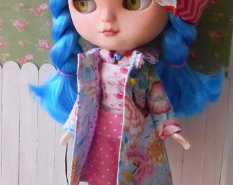 coat for blythe, icy doll, pure neemo