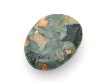 Rhyolite palmstone, volcanic rock palm stone, polished rhyolite 'rainforest jasper'