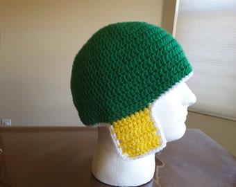 Crochet beanie with ear flaps