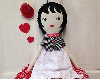 Fabric Doll / Ragdoll / Handmade Rag Doll / Custom Made Cloth Dolls / Dolls / Spoon Rag Doll / Doll / Children's Toys / Stuffed Plushies