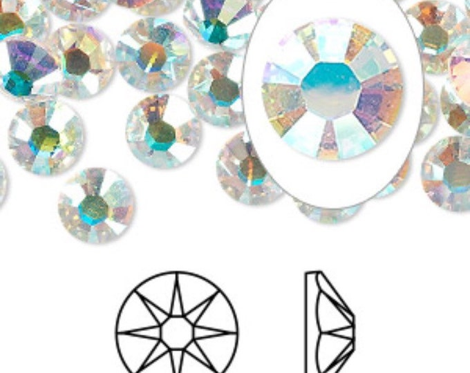 72 large crystal AB Swarovski Rhinestones in size 34 mm  ( to add to a costume order only)
