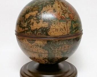 Vintage Old World Globe Ice Bucket