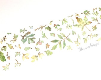 Plant pattern washi tape (T00814)