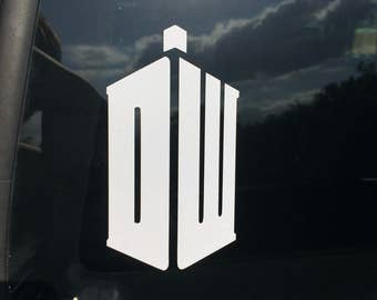 Dr. Who Car Decal