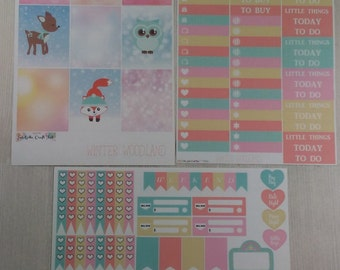 Planner Stickers-Winter Woodland Mini Kit
