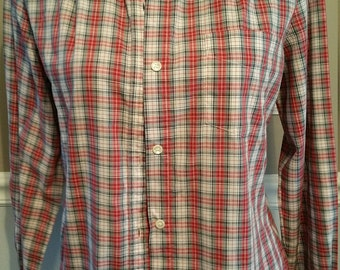LEVI Strauss & Company Plaid Shirt. Vintage Size 12