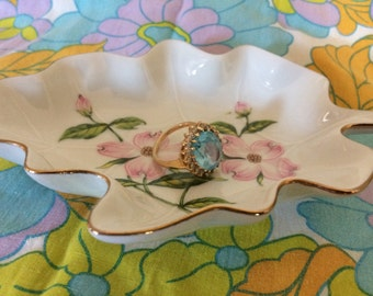 Lefton China Leaf Dish
