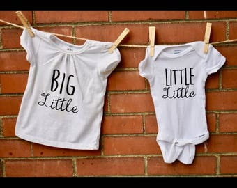 Big Little, Little little sibling shirts