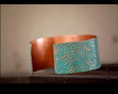 Turquoise Copper Cuff - Hammered Copper Cuff Bracelet - Personalized Women's Bracelet - Unique Gift for Mom - Personalized Jewelry for Mom
