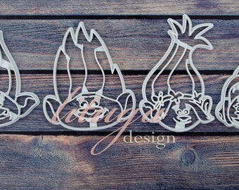 Trolls cookie cutters - Set of 2 or 3 or 4 cookie cutters