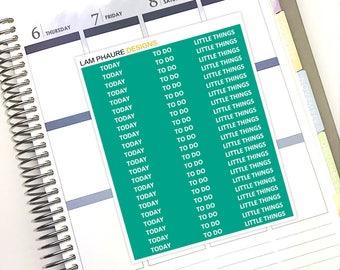 CUSTOM | June Header Stickers | Perfect for Vertical Erin Condren Life Planners (66 Planner Stickers)