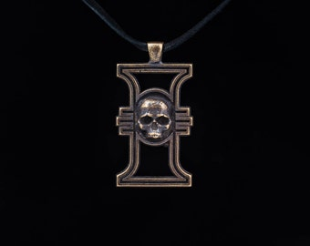 Warhammer 40k Inquisition Pendant, brass, handmade ..... inquisitorial rosette, inquisition insignia