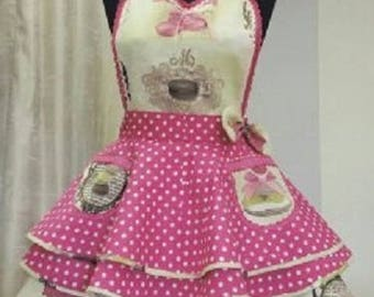 retro apron of Macarons