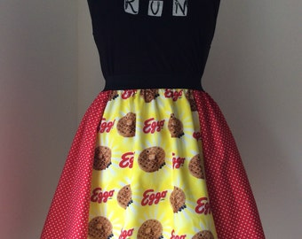 Stranger Things inspired Eggos Waffles SKIRT. Add a vest for dress outfit cosplay costume
