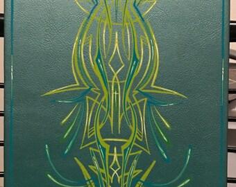 Custom pinstriped art canvas panel