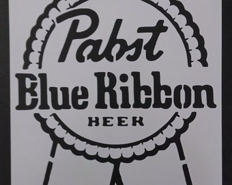pbr Pabst Blue Ribbon Beer Custom Stencil FAST FREE SHIPPING