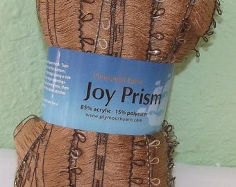 Joy Prism Ruffle Scarf yarn #105, Ladder Edge, Plymouth Yarns, Make a Beautiful Ruffle Scarf with just one Skein, Gold Scarf, Gold Yarn