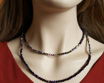 Purple Double Strand Necklace