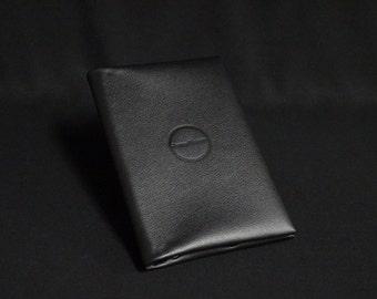 Passport Travel Wallet - Black - Kangaroo leather with RFID Passport and Credit Card chip blocking - Handmade - James Watson