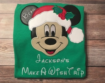 Disney Vacation shirt- Christmas mickey ear shirt- Disney world shirt- mouse ears shirt- Christmas vacation shirt, girl boy disney shirt