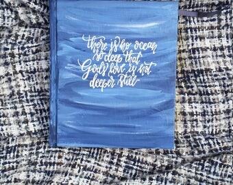 Deep Ocean Custom Journaling Bible