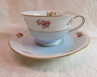 Noritake' Tea Cup and Saucer Made in Occupied Japan
