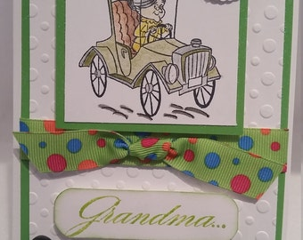 Handmade, Handcrafted really cute Happy birthday Grandma