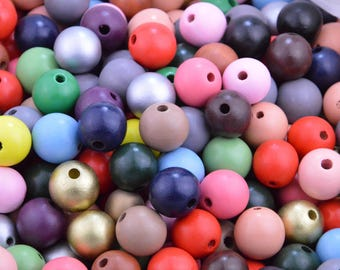 "20pcs 25mm (1"") painted wood beads craft,colorful round beads supply,painted bead,round wooden beads,jewelry making,wholesale painted beads"