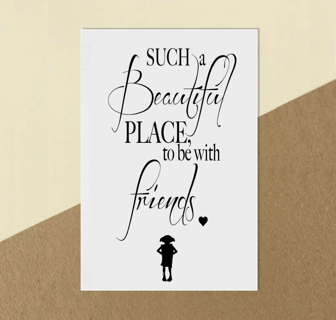 Digital Download Harry Potter Dobby Quote Print Poster