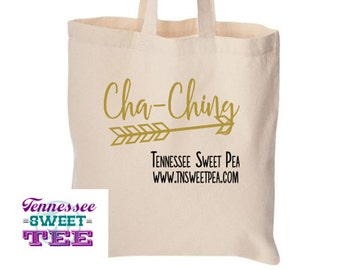 Custom Etsy Seller Tote, Etsy Tote, Custom Cha-Ching, Gift for Etsy Seller, Mail Tote, Postal Bag, Reusable Tote, Etsy Seller, Etsy Shop
