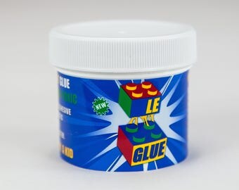 Le-Glue - Temporary Glue For LEGO®, Mega Blocks, Nano Blocks, and More. Great For Kids! Non-Toxic! Made In USA!