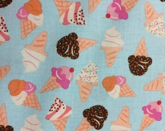 Ice Cream Cone fabric sold by the yard   #490