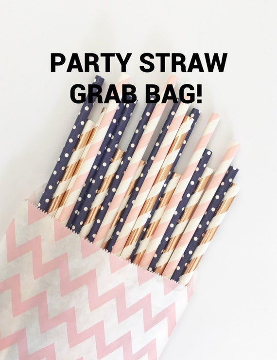 PARTY STRAW grab bag//paper straws, straws, party decorations, birthday party, party supplies, baby shower, wedding, grab bag