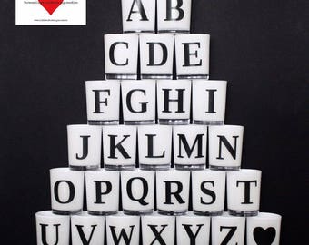 Alphabet Letter Soy Candle Votives