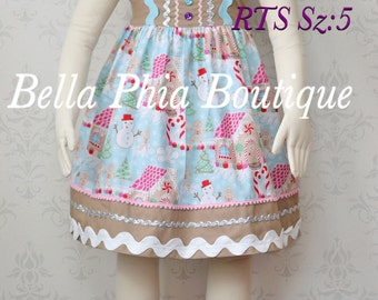 Girls Gingerbread Dress Sz-5
