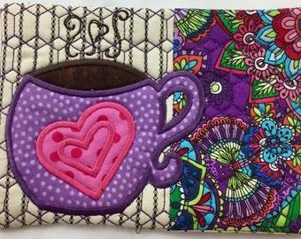 Coffee Tea Mug Rug, Coaster, Table Decoration, Hostess Gift, Teacher Gift, Birthday Gift, Housewarming Gift, Mother's Day, Mothers Day
