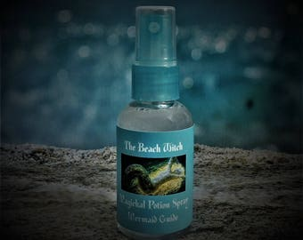 MERMAID GUIDE Ritual Oil Spray, Potion, Elixir,  Fragrance Spray, Anointing Spray, Wicca, Witchcraft, Hoodoo ~The Beach Witch Oils - 2 oz