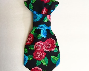 Floral Dog Tie, Pet Necktie