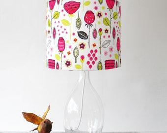 Midcentury Rose Handmade Stand Lampshade