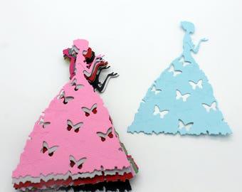 Princess Butterfly dress: lot of cut die - cut