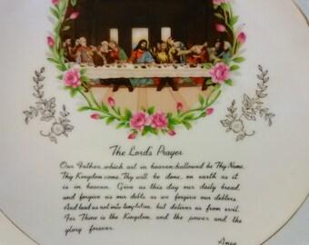 Lords Prayer Decorative Plate