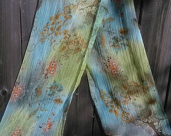 51.  Beautiful sheer vintage scarf