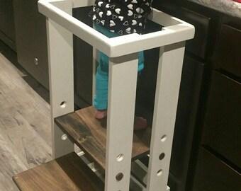 Safe Toddler stool,  Child Safety Kitchen Stool mommy's helper, kitchen helper,