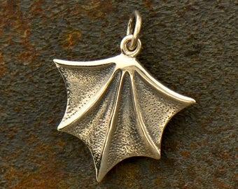 Sterling Silver, Bat Wing, Bat Charm, Wing Charm, Animal Charm, Halloween Charm, Bat Jewelry, Nocturnal, Animal Jewelry, Silver Bat Wing