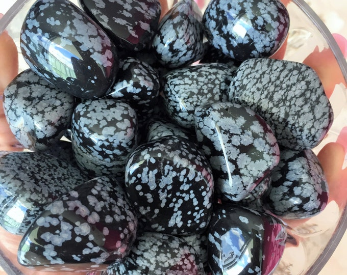 10 Snowflake Obsidian Crystals infused w/ Reiki, Wholesale Crystals